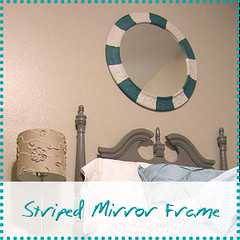 Striped Mirror Frame
