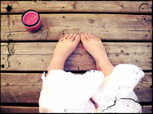 Smoothie On The Deck In Cutie PJs