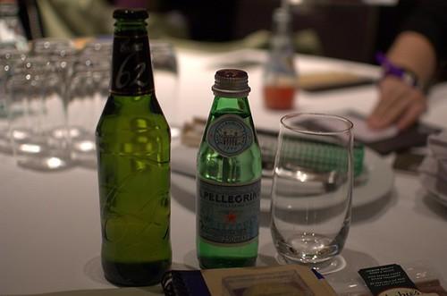 Beer, water
