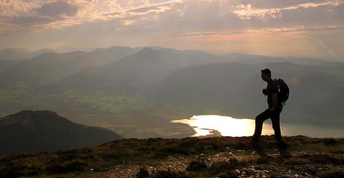 On Longside Edge with Bassenthwaite Lake and the North Western Fells beyond