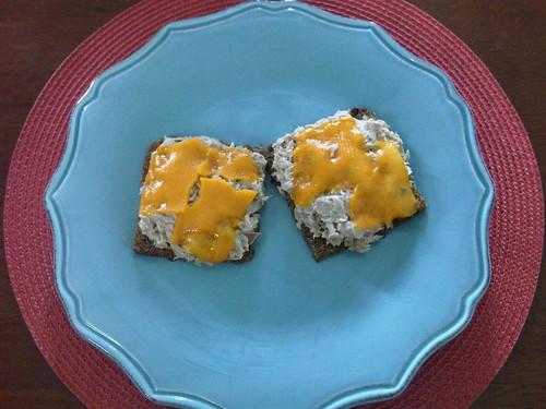 TGIF Lunch Menu: Open-face Tuna Melt of Rye!