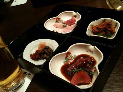 生ビールとプチ焼き肉セット@翔山亭