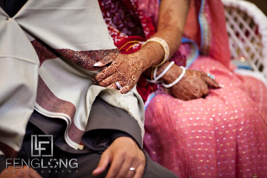 Bride and Groom with Henna on Hands   Shamz & Sana's Wedding Day 2   Hyatt Place Atlanta Airport South   Atlanta Indian Photographer