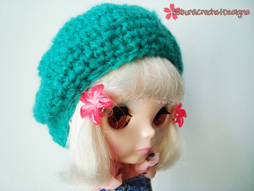 Turquese urchin Blythe beret