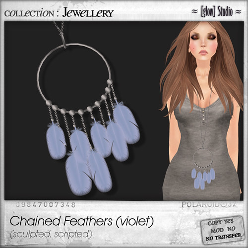 [ glow ] studio - Chained Feathers (violet)