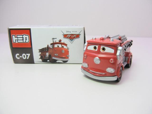 disney cars tomica c-07 red (2)