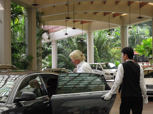 Richard Branson at The Ritz-Carlton Millennia Singapore