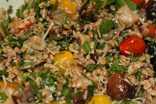 Farro & Roasted Mushroom Salad