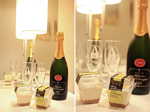 champagne & cheesecake