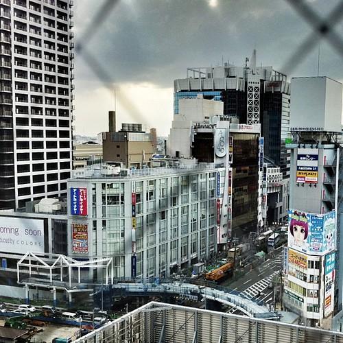 天王寺Mioから望む阿倍野歩道橋 #iphonography #instagram