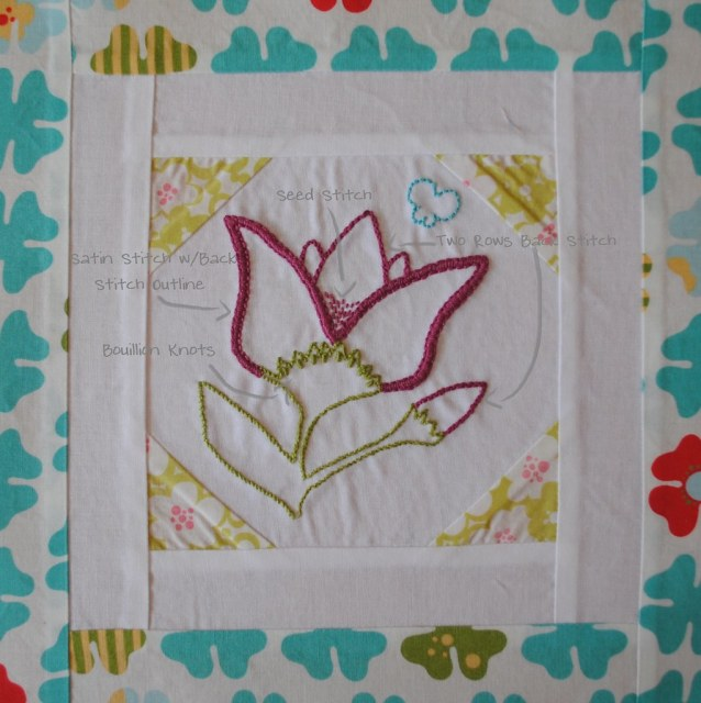 Embroidery 101: Block Eight Diagram