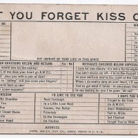Lest You Forget Kiss CArd
