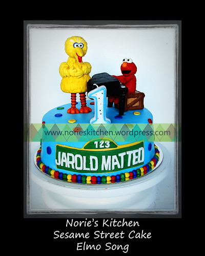 Norie's Kitchen - Sesame Street Cake - Elmo Song by Norie's Kitchen