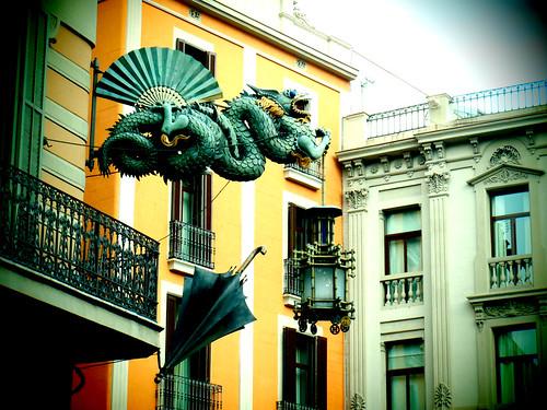Dragon and umbrella