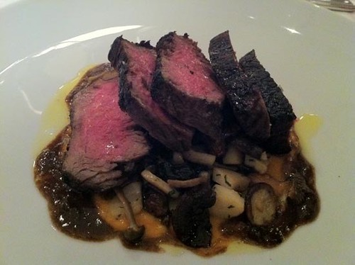 Tagliata with Funghi Misti and Bone Marrow