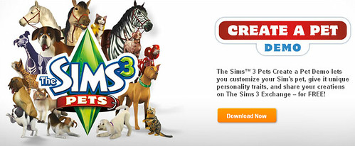 Sims 3 Create a Pet Demo - Now Live!