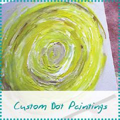 custom dot paintings