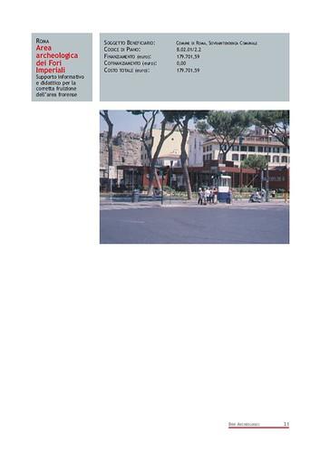 Rome, The Imperial Fora Project (1998-2011) Documents [in PDF]: Roma -Area Archeologica dei Fori Imperiali -  Supporto informativo e didattico per la corretta fruizione dell' area fornese. Com. di Roma (1999-2000). by Martin G. Conde