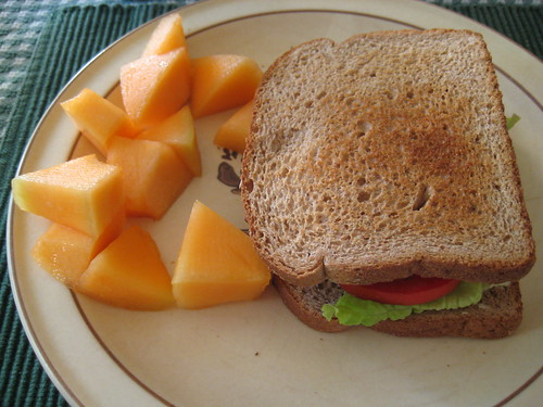 cantaloupe and BLT
