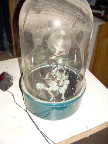Glass jellyfish sculpture