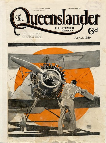Illustrated front cover from The Queenslander, April 3, 1930
