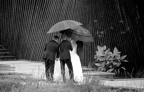 Bride Shine Even in the Rain