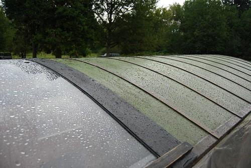 shanty boat roof rain