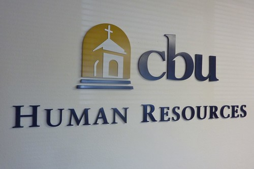 California Baptist University - Human Resources dimensional letters