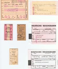 Reichsbahn Fahrkarten