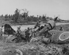 Wrecked Japanese Plane