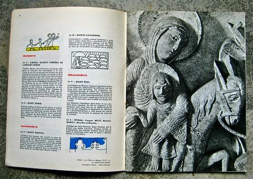 Cathédrales et sanctuaires, a cura di Ministère des Travaux Publics; Published by and for the French Governement [data non ind.]; Ill. originali: Atelier du Coeur Meurtry, Typog. et mise en page: Massin. p. 8 - 9 (part.), 1