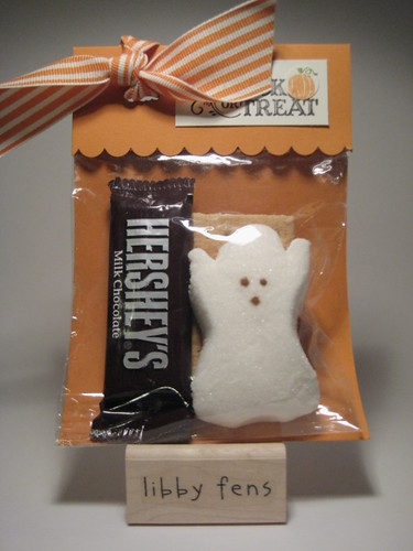 libbystamps, s'more, ghost, Halloween treat
