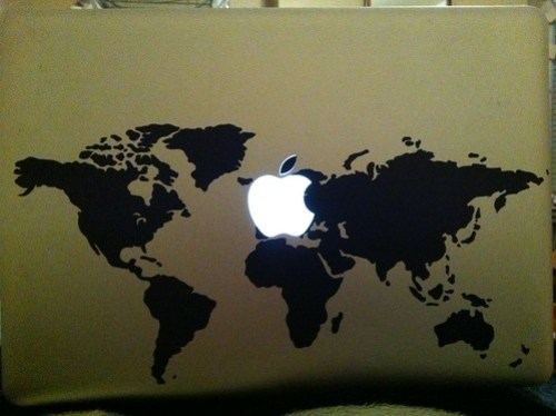 World decal on my macbook