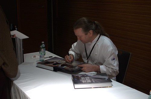 Neil Perry signing books