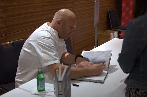 Matt Moran signing books
