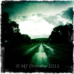 Evening Stormy Road #iphoneography