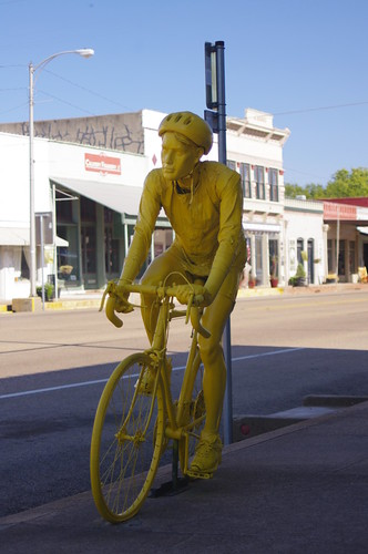 Yellow Bike Man