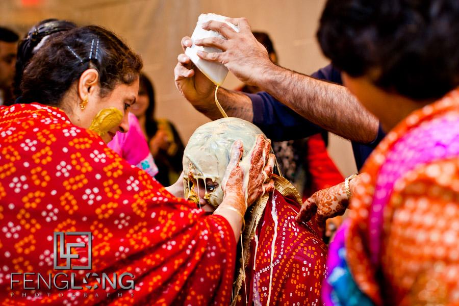 Bride's Haldi Ceremony | Shamz & Sana's Wedding Day 2 | Hyatt Place Atlanta Airport South | Atlanta Indian Photographer