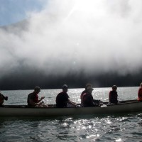 Paddling the Harrison River