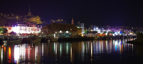 Trouville, le port, la nuit by esquimo_2ooo