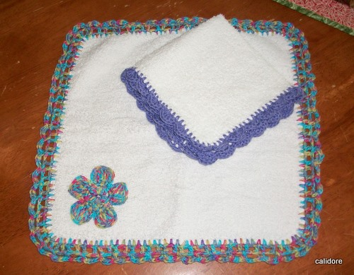 Face washers - crochet edgings