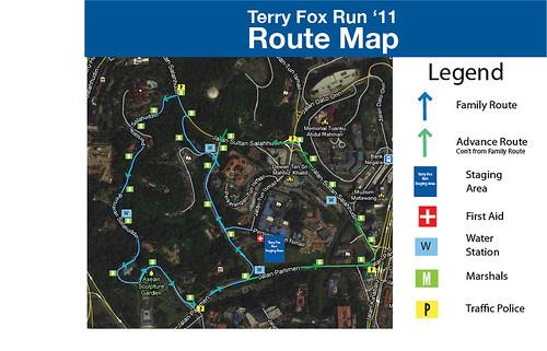 Terry Fox Run 2011 Route