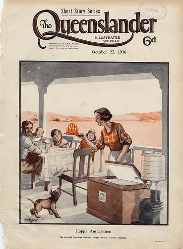 Illustrated front cover from The Queenslander, October 22, 1936
