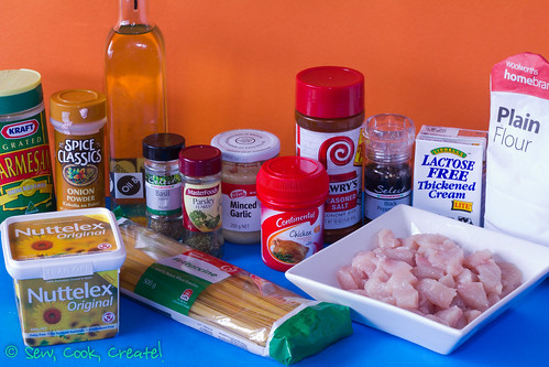 Chicken Fettuccine Alfredo ingredients