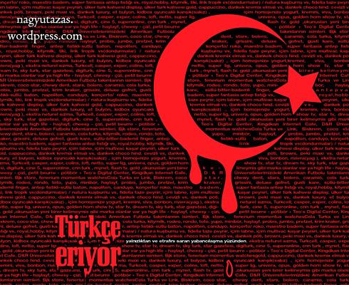 Török vörös és fekete félholdas poszter