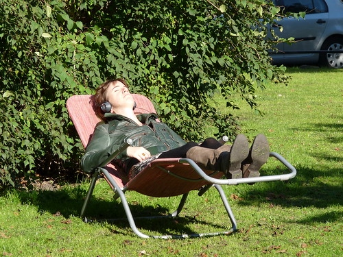 Sunning in the park