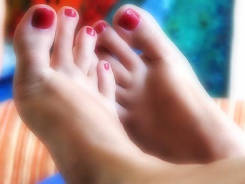 Cherry Plum toenails