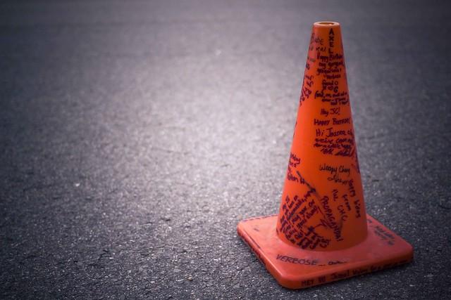 stolen road cone