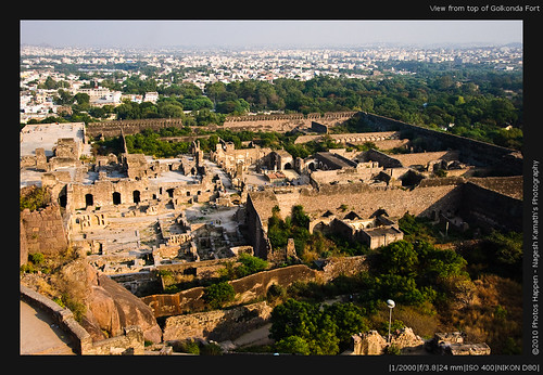 View from top of Golkonda Fort