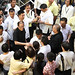 Pres. Aquino shaking hands with people